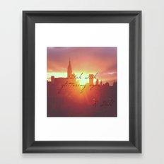 Watch with glittering eyes Framed Art Print