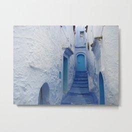 Moroccan Blues Metal Print
