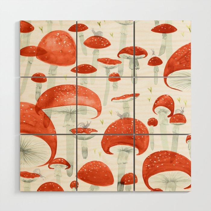Mycelium Fruiting Bodies by Friztin © 2017 Wood Wall Art
