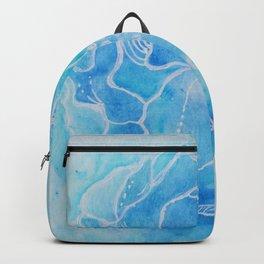 Heartfelt Blue Flower Backpack