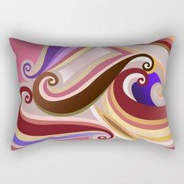 Orangepurple curve  Rectangular Pillow