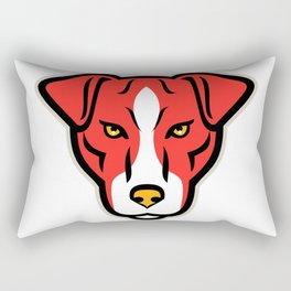 Plummer Terrier Dog Front Mascot Rectangular Pillow