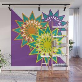 Three Flowers Wall Mural