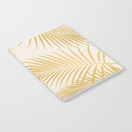 Metallic Gold Tropical Palm Fronds Notebook