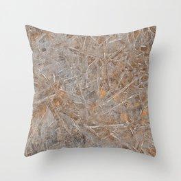 Beach Ice Texture Throw Pillow