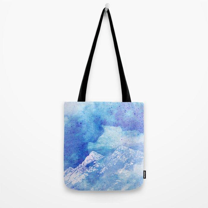 Snowy Mountain #society6 #decor #buyart Tote Bag