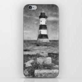 Penmon Lighthouse iPhone Skin
