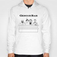 bar Hoodies featuring Genius Bar by science fried art