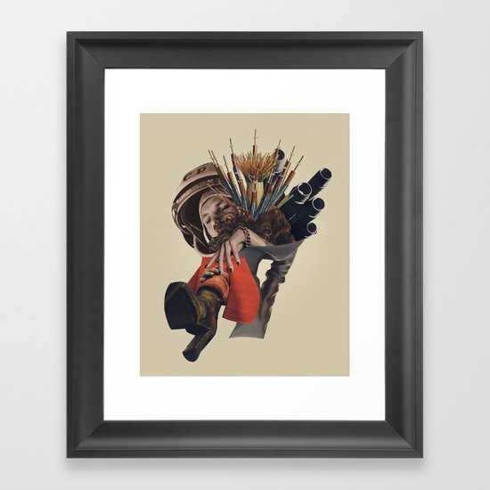 Congratulations, you caught the bouquet.... Framed Art Print
