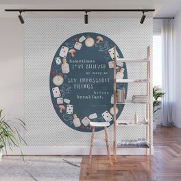 Alice in Wonderland - Six Impossible Things Wall Mural