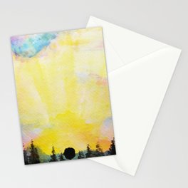 Sun Over the Trees Stationery Cards