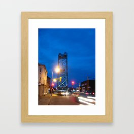 Oh The Lights Framed Art Print