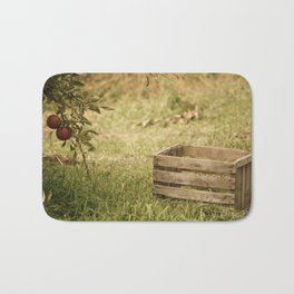 apple crate photograph Bath Mat