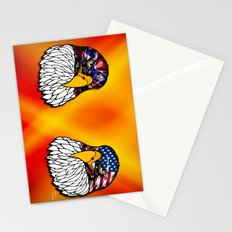 Confederate and Union Eagles Stationery Cards