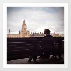 London Big Ben with a Guy Art Print