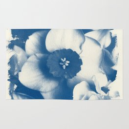 Petals by the Sea [Cyanotype Blue] Rug