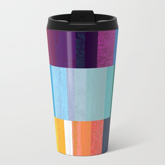 Stripes Metal Travel Mug