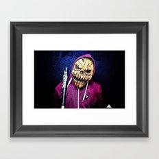 Smashing Pumpkin Portrait Framed Art Print
