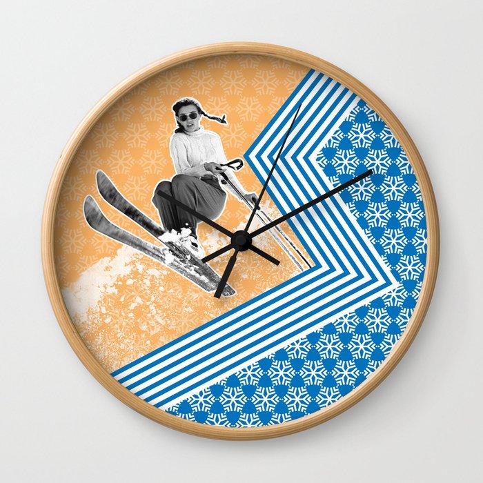 Ski Like a Girl Wall Clock