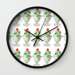 Pistachio Ice Cream Pattern Wall Clock