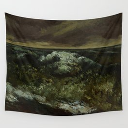 """Gustave Courbet """"The Wave 1869-1870 Dallas"""" Wall Tapestry"""