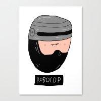 robocop Canvas Prints featuring ROBOCOP by Nick Cocozza