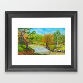 Family of Trees Framed Art Print