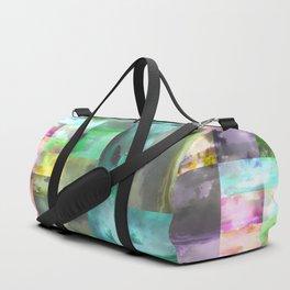 Geometric Clouds and Sky Duffle Bag