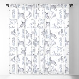 Afghan Hounds Pattern Blackout Curtain
