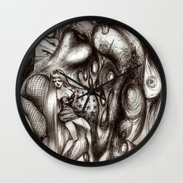 Orgy Of Courtesans Wall Clock