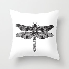 Lace dragonfly Throw Pillow
