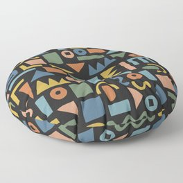 Colorful Shapes Floor Pillow
