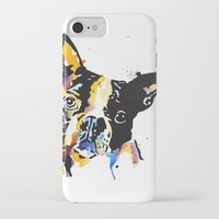 boston terrier iPhone & iPod Cases featuring boston terrier by Smolder Design