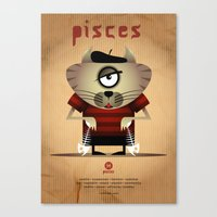 pisces Canvas Prints featuring PISCES by Angelo Cerantola