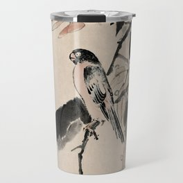 Ink Painting Calligraphy, Bird and Phoenix Tree, Wutong, Ming Dynasty, Hand Drawing Ancient Painting Travel Mug