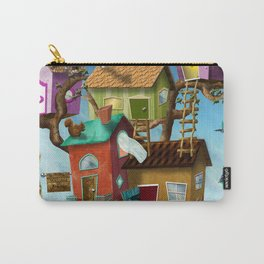 Home Sweet Tiny Tree Houses Carry-All Pouch