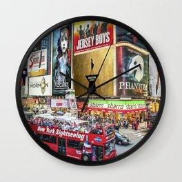 Times Square II Wall Clock