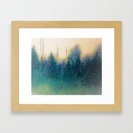 Forest Splash Framed Art Print