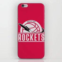 Rockets custom vintage basketball red logo iPhone Skin