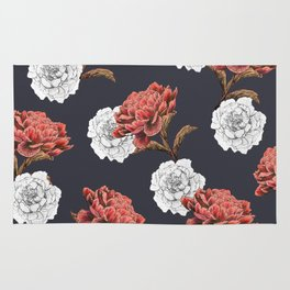 red and white floral pattern Rug
