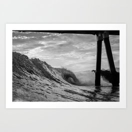 Shoot the Pier Art Print