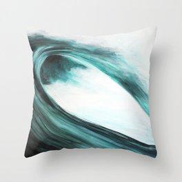 Barreling wave Throw Pillow