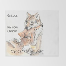 MFM: Stay Out of the Forest Throw Blanket