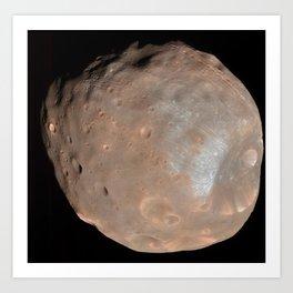 Phobos Doomed Moon of Mars  Art Print