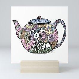 Tea Pot Head Mini Art Print
