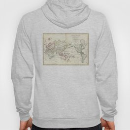 Vintage Map of The World (1816) Hoody