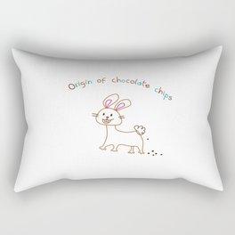 The Origin of Chocolate Chips Rectangular Pillow