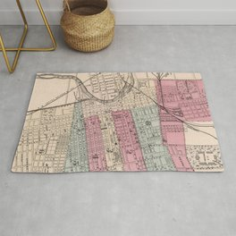 Vintage Map of Columbus Ohio (1868) Rug