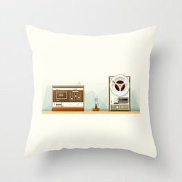 Old Record Throw Pillow