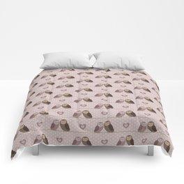 Owls in love (pink) Comforters
